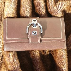 Coach wallet leather brown like new